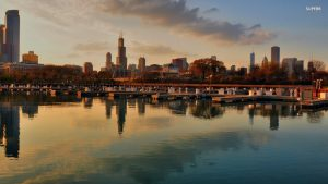 chicago skyline wallpaper