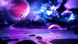 purple space wallpaper HD