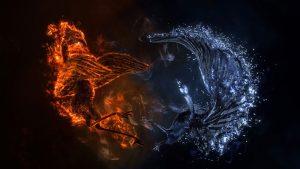 phoenix kertas dinding