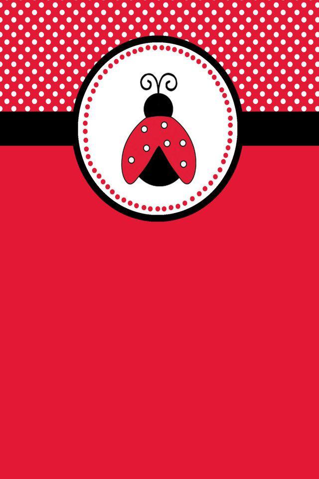 Étiquette-coccinelle-rouge-et-noire-wallpaper-wp3005434