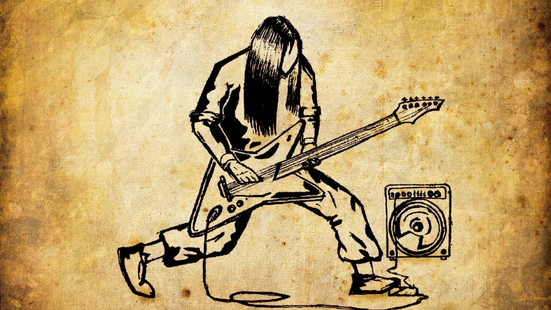 1920x1080-Drawings-Metal-Rock-Old-Paper-Guitar-Rock-Music-wallpaper-wp360766