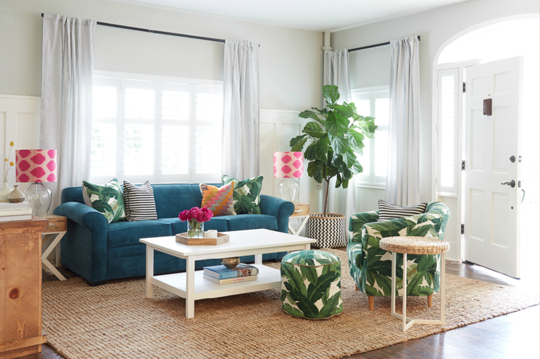 A-Whole-House-Before-and-After-You-Need-to-See-to-Believe-eclectic-palm-leaf-fiddle-leaf-fig-wallpaper-wp4803854
