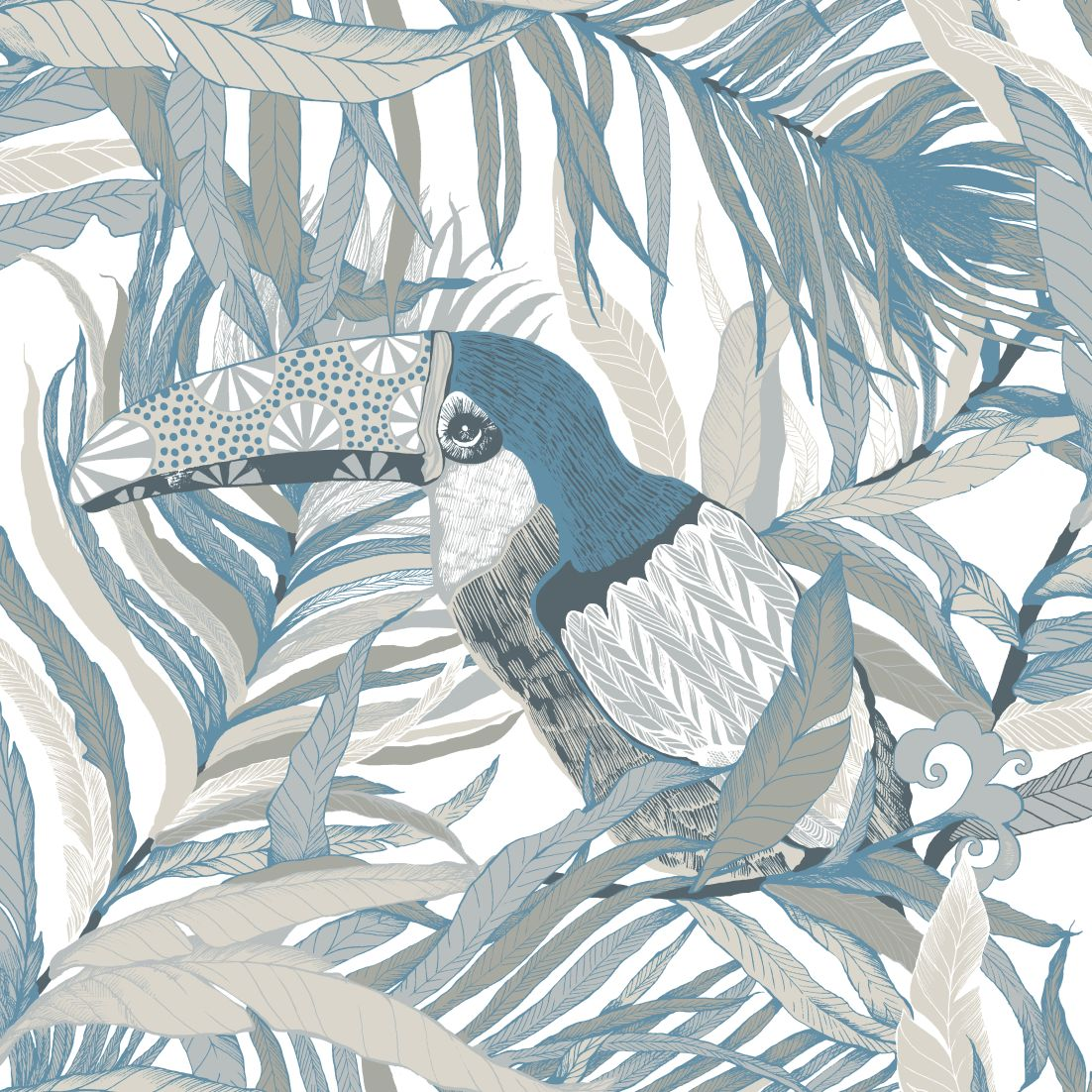 A-gorgeous-contemporary-design-of-stylised-toucan-wallpaper-wp5004189