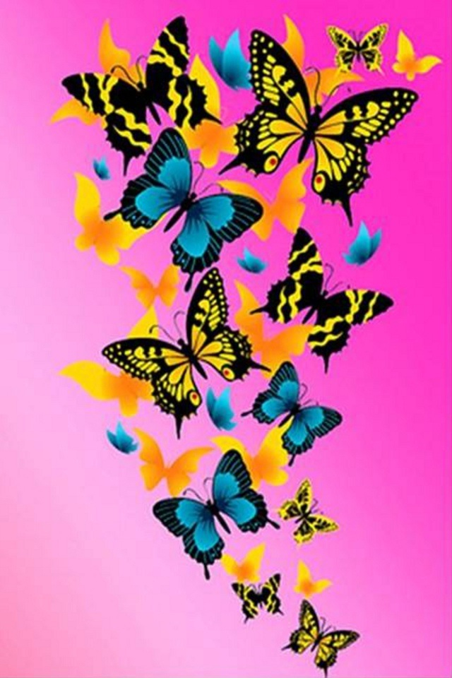 A-group-of-colored-butterflies-wallpaper-wp423357-1