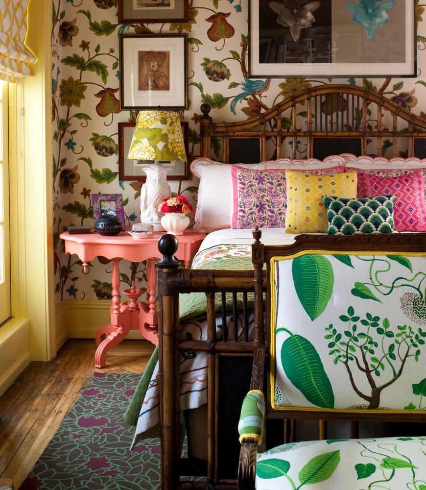 A-guest-bedroom-designed-by-Madcap-Cottage-wallcovering-is-from-Thibaut-s-River-Road-Collection-wallpaper-wp5203666