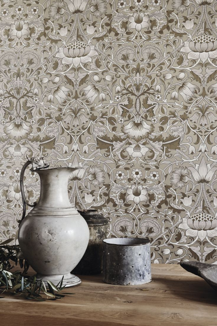 A-large-scale-interlacing-trailing-floral-design-in-five-contemporary-colour-ways-wallpaper-wp4603406