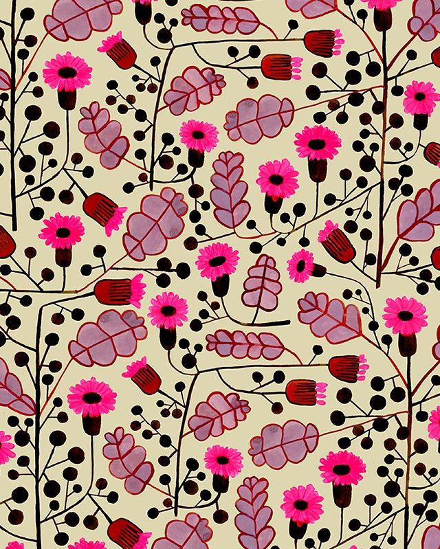 A-little-pattern-my-paintingaday-turned-into-this-repeat-surtex-surfacedesign-flowermagic-wallpaper-wp4803839