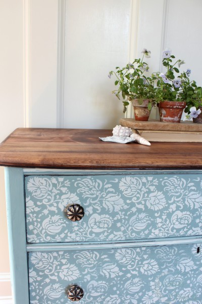 A-lovely-stenciled-dresser-finished-in-Duck-Egg-Blue-Old-White-Chalk-Paint®-decorative-paint-by-A-wallpaper-wp4404068