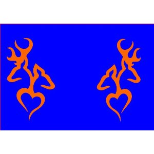 A-set-of-Browning-Deer-Head-Heart-Logo-decals-in-ORANGE-a-left-right-sided-wallpaper-wp5402980