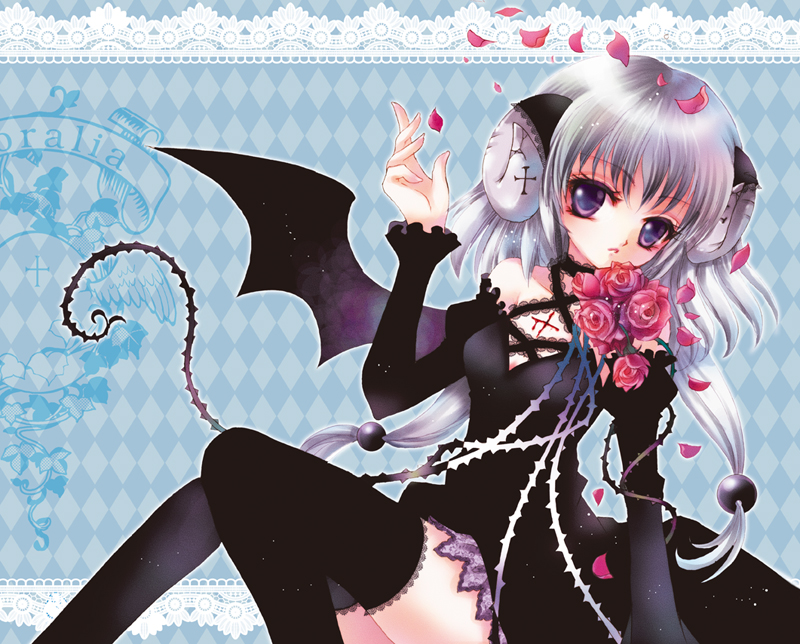 ANIME-ART-devil-bat-wings-tail-horns-gothic-dress-lace-thigh-high-st-wallpaper-wp4403746-1