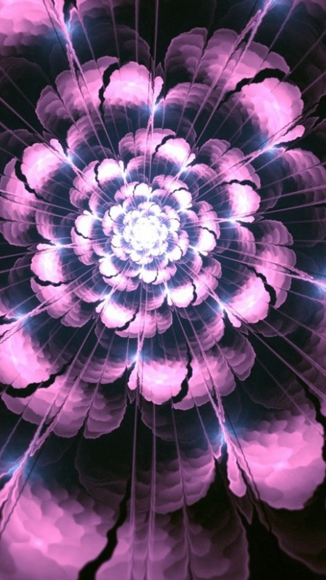 Abstract-Bloomy-Flower-Petals-Dark-Pattern-Art-iPhone-s-wallpaper-wp423396