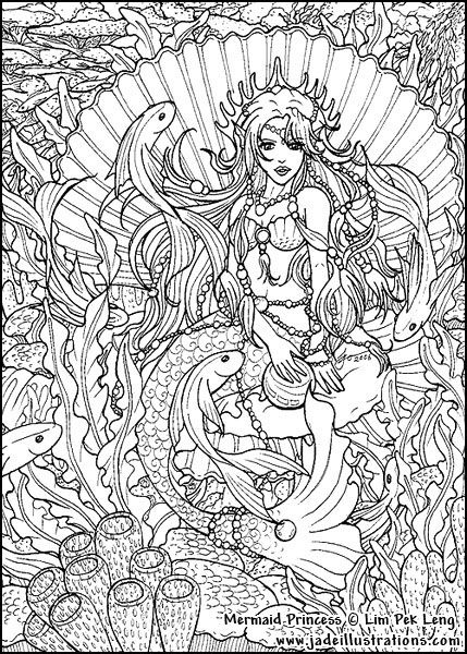 Adult-Coloring-Pages-Mermaids-Free-Coloring-Page-Coloring-Pages-By-Coloringpagespic-com-Resolution-wallpaper-wp4603500-2