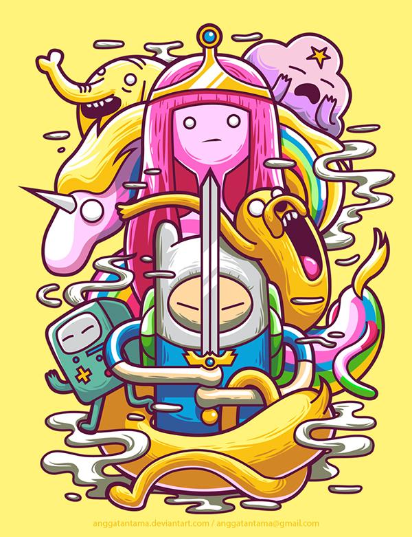 Adventure-Time-by-Angga-Tantama-via-Behance-illustration-ilustração-artedigital-digitalart-wallpaper-wp4603510
