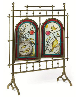 Aesthetic-Movement-Stained-Glass-Brass-Fire-Screen-Fish-Birds-wallpaper-wp5203896
