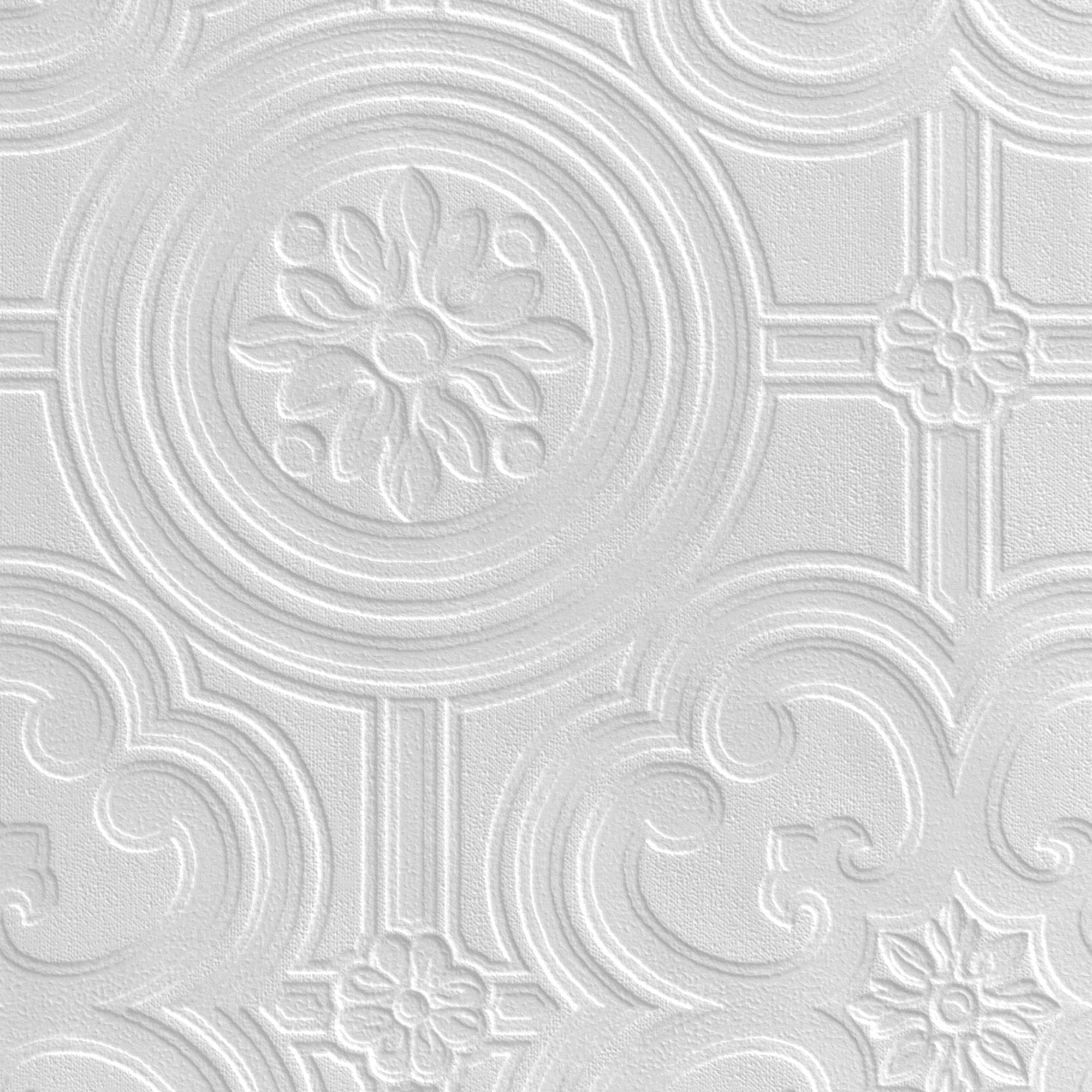 Anaglypta-Luxury-Egon-White-Ceiling-Paintable-Wallpaper-Departments-DIY-at-B-Q-£-wallpaper-wp4804168