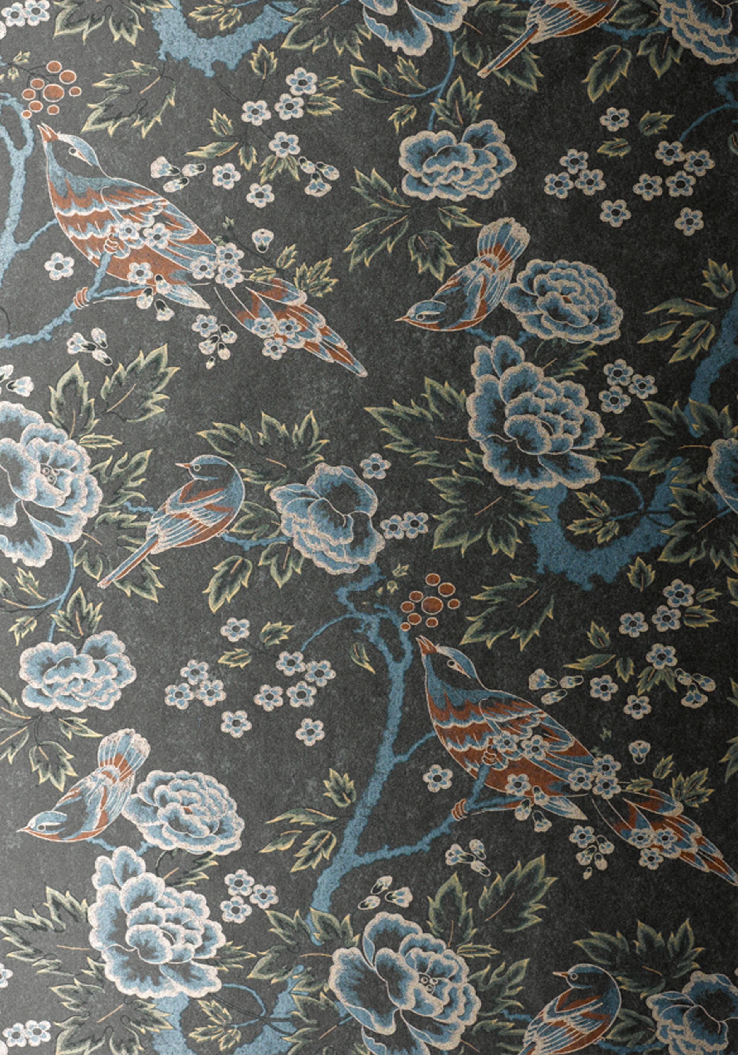 Anna-French-Wild-Flora-Songbirds-Silver-Black-shop-connection-com-wallpaper-wp4404500