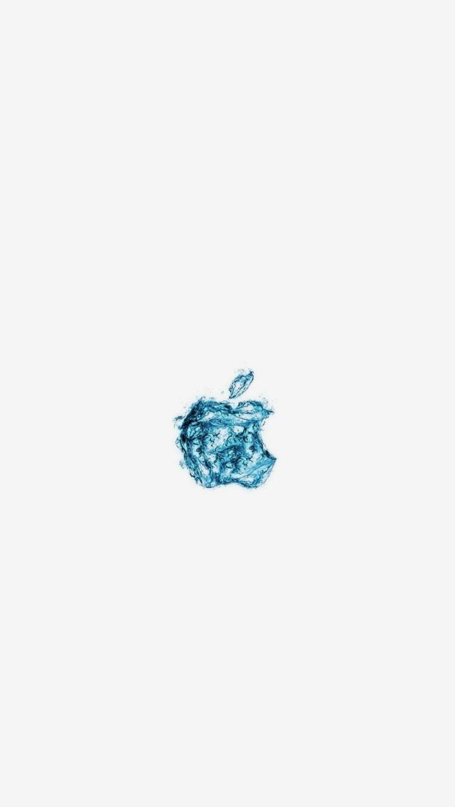 Apple-Logo-Water-White-Blue-Art-Illustration-iPhone-s-wallpaper-wp423726