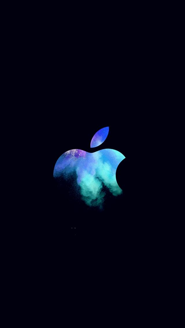Apple-Mac-Event-Logo-Dark-Illustration-Art-Blue-iPhone-s-wallpaper-wp423728