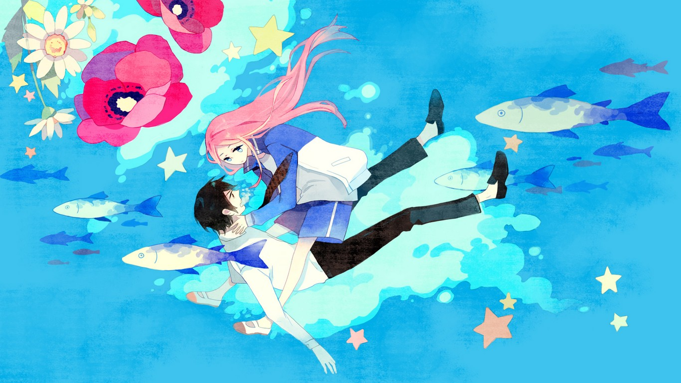 Arakawa-under-the-bridge-Nino-and-Kou-wallpaper-wp5602985