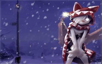 Art-Snow-Cat-Winter-Night-rain-snow-wallpaper-wp5004789