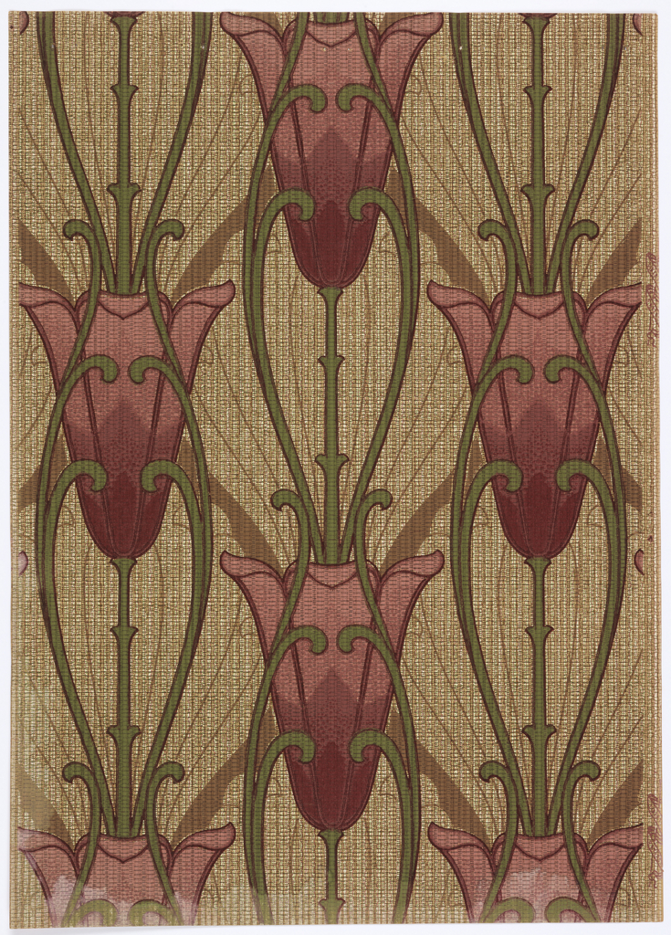 Art-nouveau-oversized-tulips-vertical-direction-on-long-stem-and-fine-line…-wallpaper-wp4804329