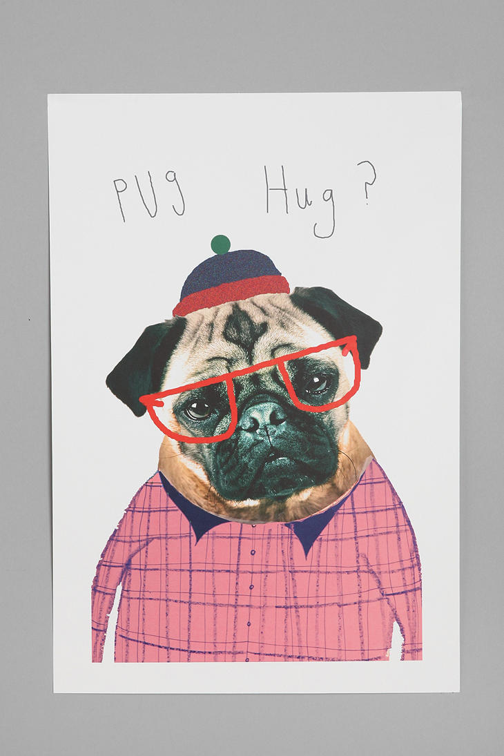 Ashley-Percival-For-Society-Pug-Hug-Art-Print-UrbanOutfitters-ha-might-have-to-get-this-wallpaper-wp3003342