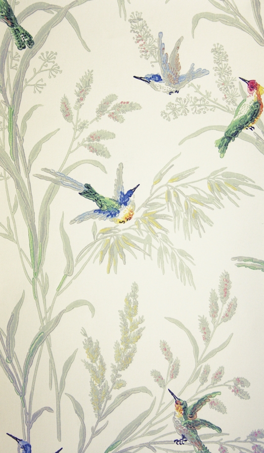 Augustine-A-printed-on-a-light-cream-background-featuring-colourful-birds-amongs-wallpaper-wp423812-1