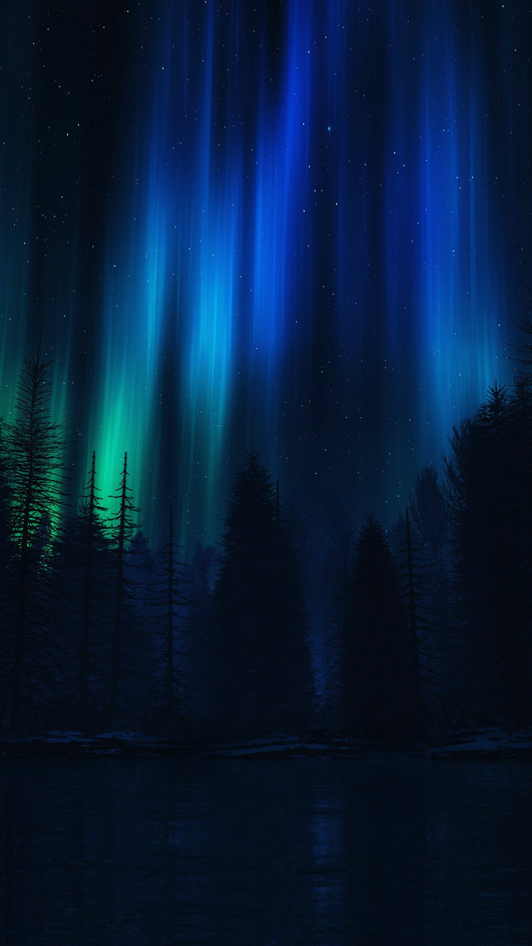 Aurora-Night-Sky-Dark-Blue-Nature-Art-iPhone-wallpaper-wp423815-1