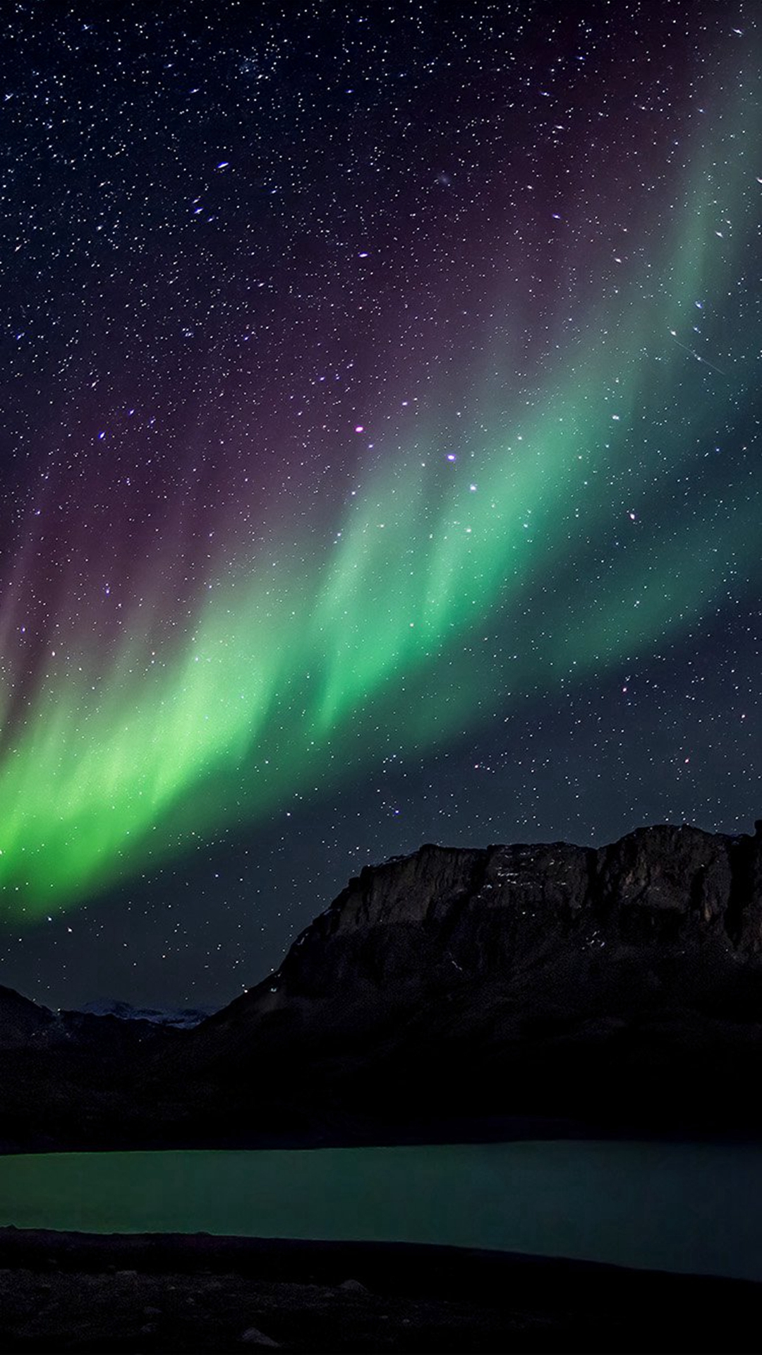 Aurora-Night-Sky-Mountain-Space-Nature-iPhone-wallpaper-wp3003371