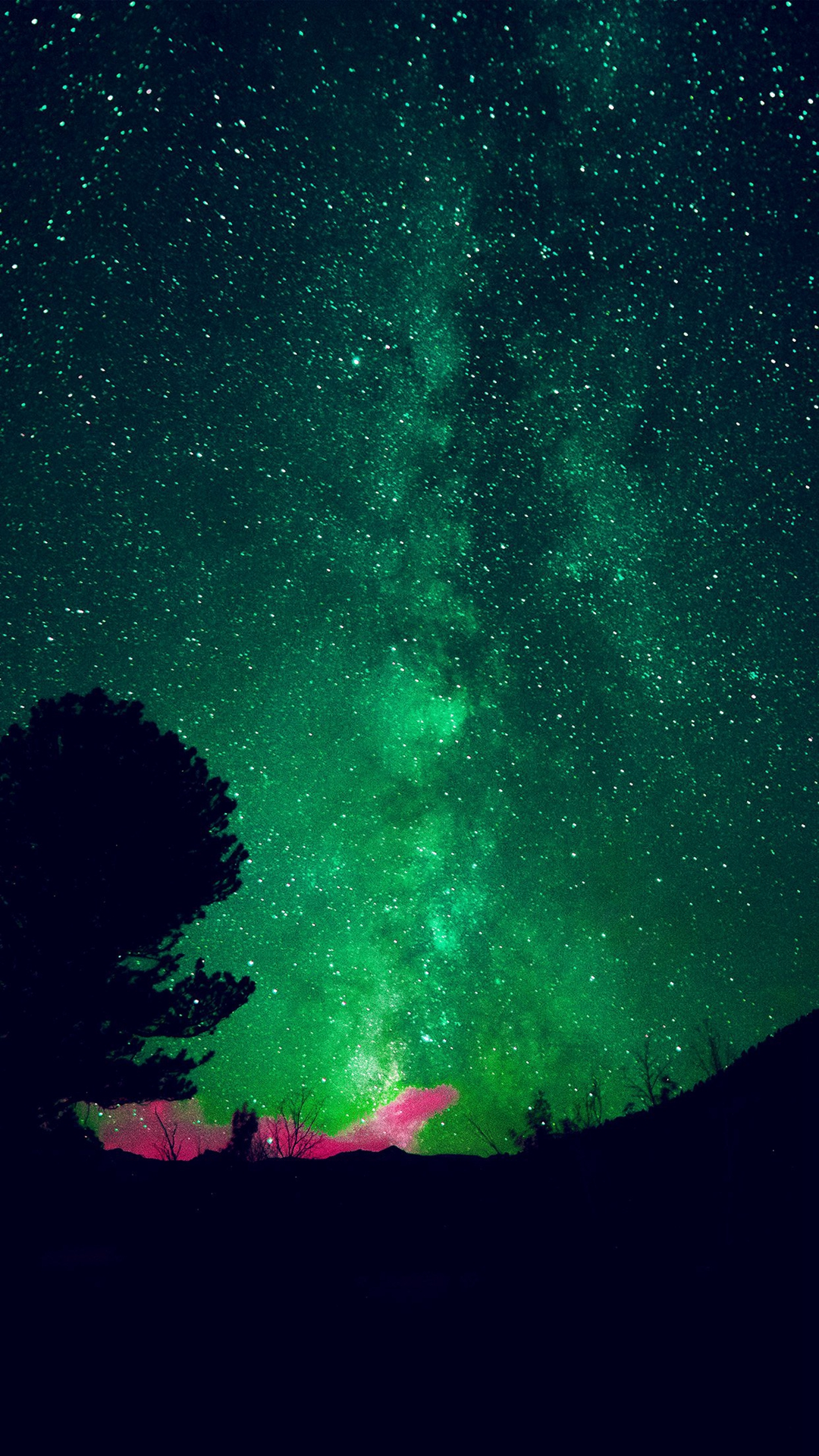 Aurora-Night-Sky-Star-Space-Nature-Green-iPhone-wallpaper-wp3003372