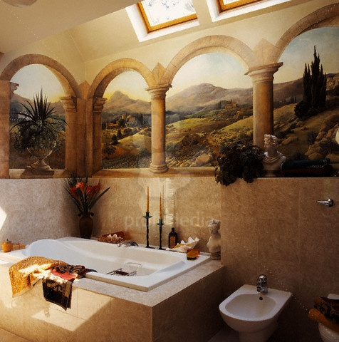 Bathroom-with-Trompe-L-Oeil-Mural-wallpaper-wp423927-1