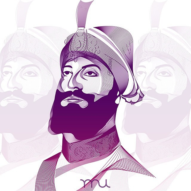 Beautiful-Sikh-Art-of-Guru-Gobind-Singh-Ji-by-Raj-U-raj-ubhi-Beautiful-beautiful-art-brother-wallpaper-wp5403622