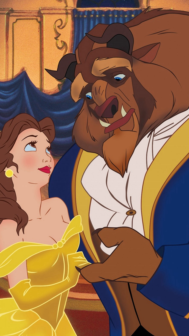 Beauty-And-The-Beast-Dancing-Anime-Love-Fairy-iPhone-s-wallpaper-wp424014