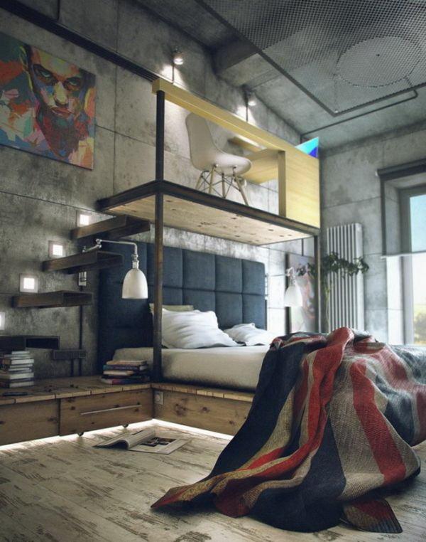 Bedroom-Industrial-Loft-I-love-this-So-Much-wallpaper-wp5005163