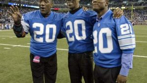 Barry Sanders Detroit Lions tapet