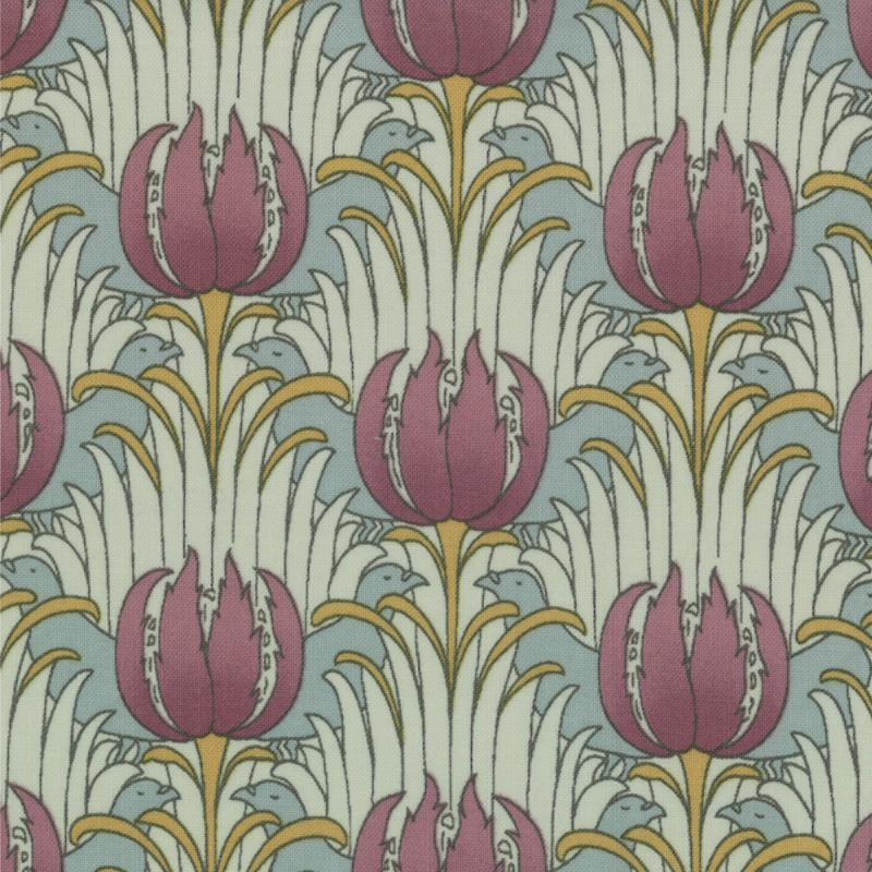 Bird-Tulip-William-Morris-reproduction-print-wallpaper-wp4405108