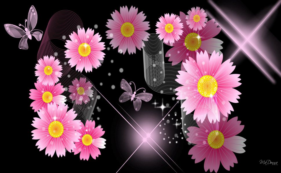 Black-And-Pink-Flower-HD-wallpaper-wp3403267