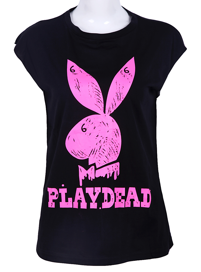 Black-Short-Sleeve-Rabbit-PLAYDEAD-Print-T-Shirt-wallpaper-wp5403729