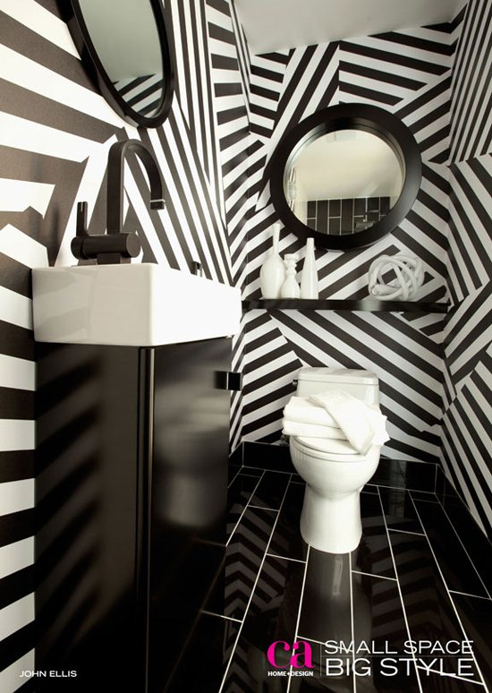Black-and-white-powder-room-with-striped-walls-by-Christian-May-wallpaper-wp6002389