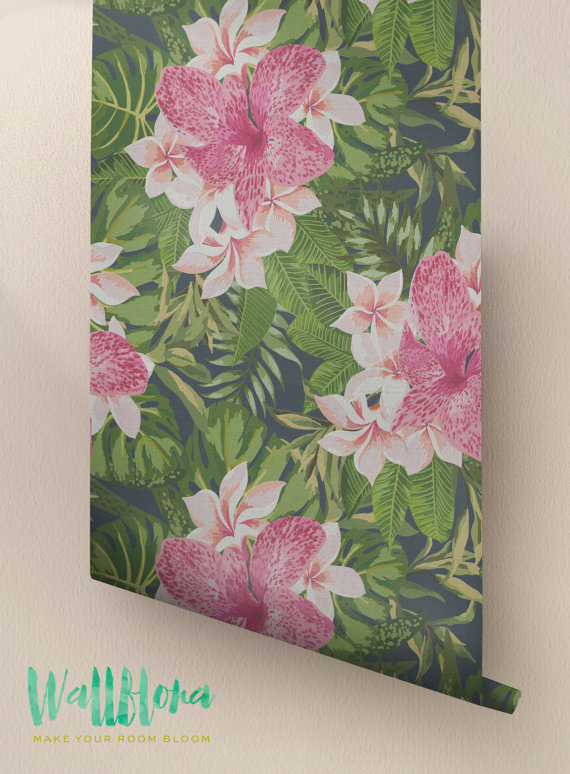 Blooming-Jungle-Removable-Tropical-Exotic-Wall-Sticker-Exotic-wallpaper-wp424153-1