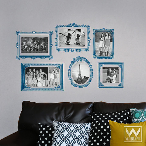 Blue-Colorful-Picture-Frame-Photo-Frame-Wallternatives-wall-decals-wallpaper-wp5403752