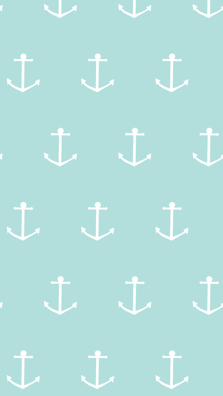 Blue-Summer-Anchor-iPhone-Home-PanPins-wallpaper-wp4405228