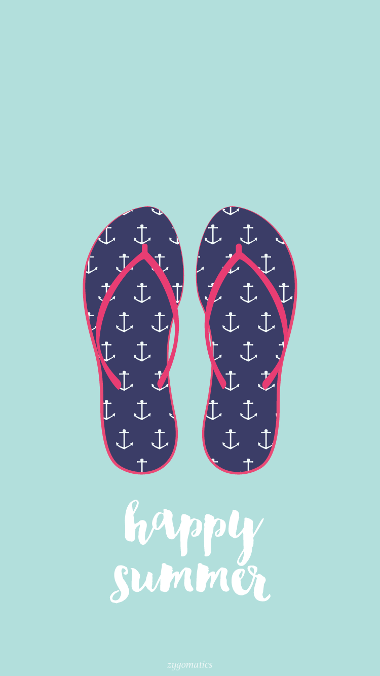 Blue-Summer-Flip-Flops-iPhone-Lock-PanPins-wallpaper-wp4405229