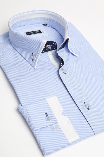 Blue-double-collar-shirt-by-Franck-Michel-wallpaper-wp5204733