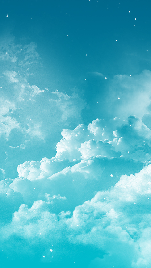 Blue-turquoise-clouds-sky-iphone-phone-background-lock-screen-wallpaper-wp5804128