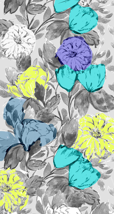 Botanical-Flower-bright-Stretched-Canvas-by-Crystal-Walen-Society-wallpaper-wp424210-1