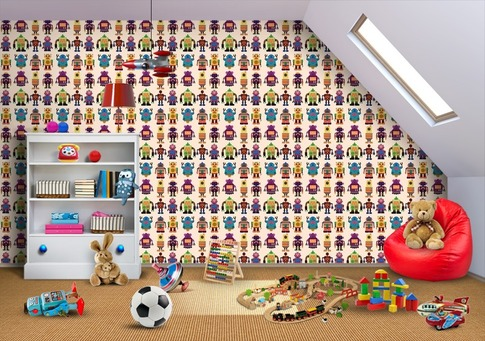 Bring-One-Million-Bots-into-your-kids-room-with-this-custom-wallpaper-wp5005494