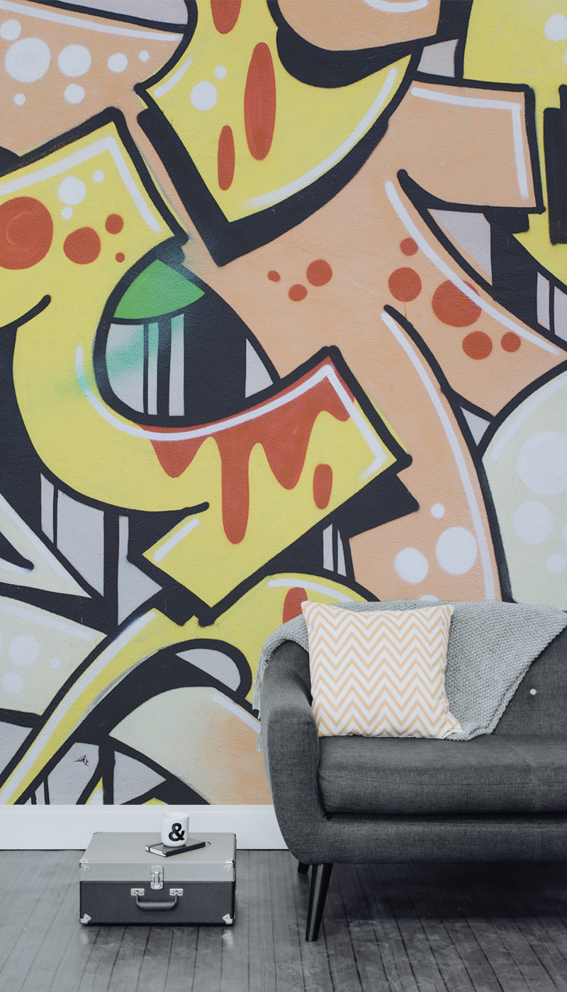 Bring-some-urban-cool-into-your-home-with-this-graffiti-mural-Thick-black-lines-encase-br-wallpaper-wp5403828