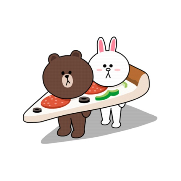 Brown-Cony-Pizza-wallpaper-wp3003923