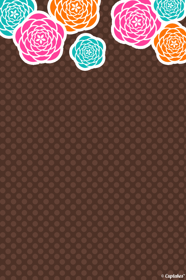 Brown-floral-iphone-wallpaper-wp5204851